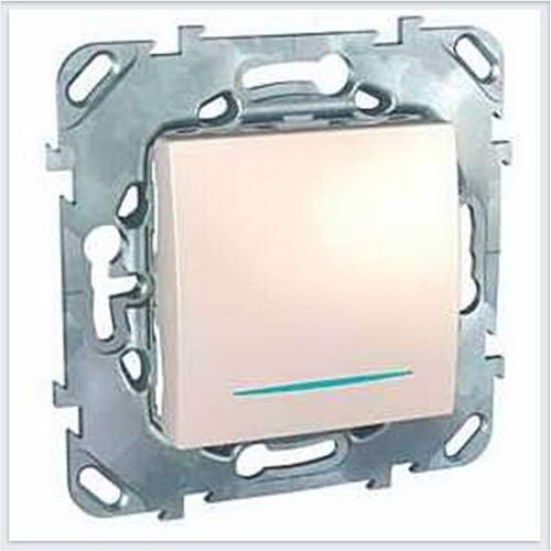Выключатель 1-клавишный с подсветкой цвет Бежевый Schneider-Electric Unica - MGU5.201.25NZD