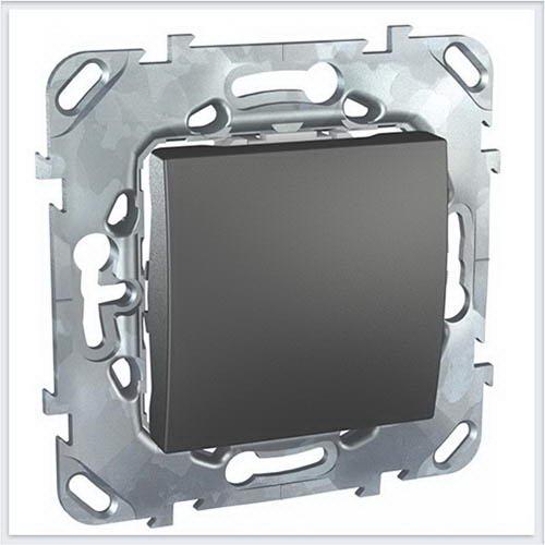 Unica Top Графит Выключатель 1-клавишный кнопочный - MGU5.206.12ZD