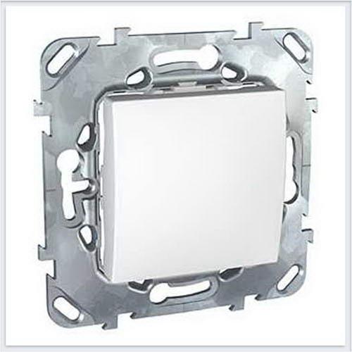 Выключатель 1-клавишный кнопочный цвет Белый Schneider-Electric Unica - MGU5.206.18ZD