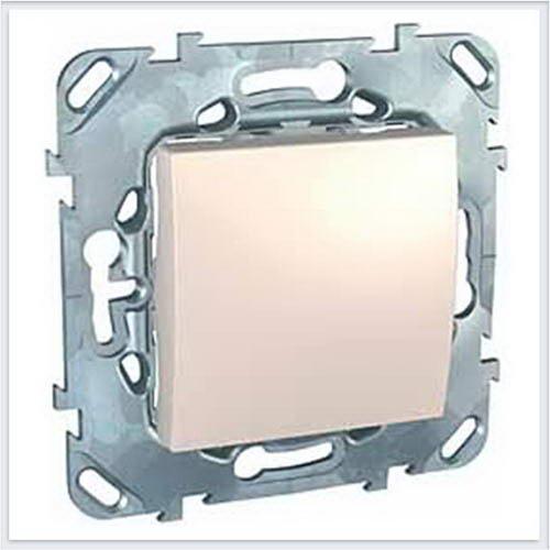 Выключатель 1-клавишный кнопочный цвет Бежевый Schneider-Electric Unica - MGU5.206.25ZD