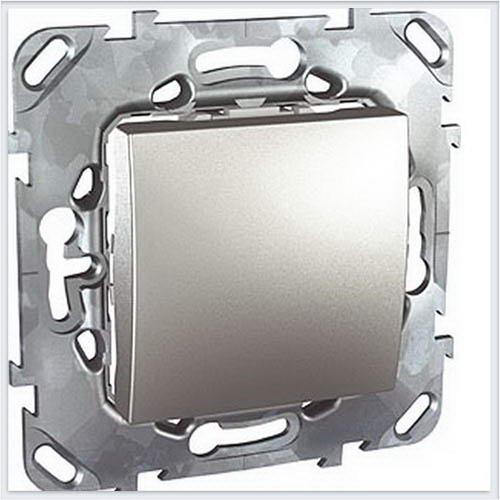 Unica Top Алюминий Выключатель 1-клавишный кнопочный - MGU5.206.30ZD