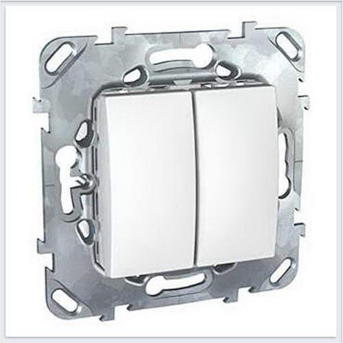 Выключатель 2-клавишный цвет Белый Schneider-Electric Unica - MGU5.211.18ZD