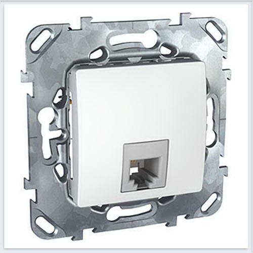 Розетка ТЛФ 1-ая 4 контакта цвет Белый Schneider-Electric Unica - MGU5.492.18ZD