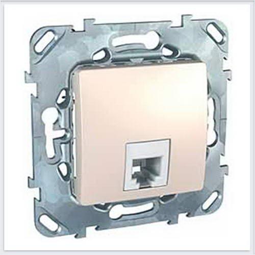 Розетка ТЛФ 1-ая цвет Бежевый Schneider-Electric Unica - MGU5.492.25ZD