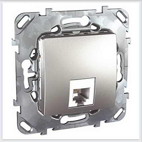 Unica Top Алюминий Розетка ТЛФ 1-ая - MGU5.492.30ZD