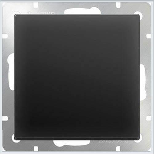 Werkel WL08-SW-1G-2W/Выключатель одноклавишный проходной черный матовый
