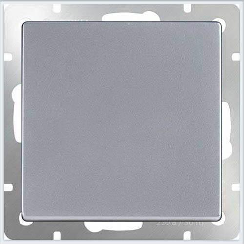 Werkel WL06-SW-1G-2W/Выключатель одноклавишный проходной серебряный