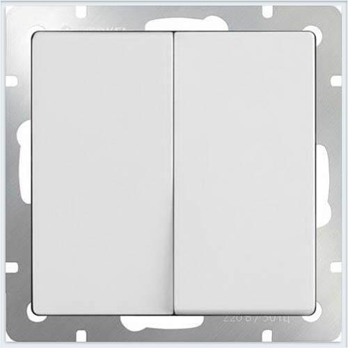 Werkel WL01-SW-2G-2W Выключатель двухклавишный проходной белый