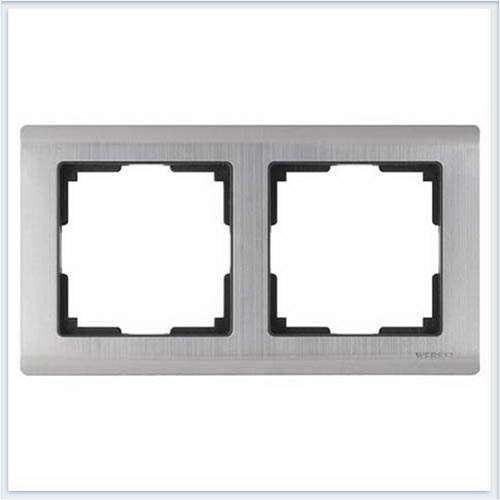 Werkel WL02-Frame-02 Рамка на 2 поста глянцевый никель