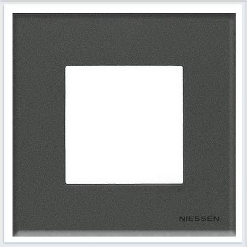 ABB Niessen Zenit - Niessen Zenit рамки - Рамки zenit стекло графит - N2271 CF
