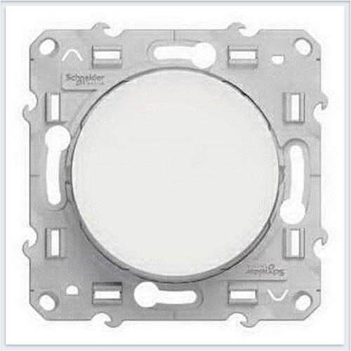 Выключатель 1-клавишный Белый Schneider-Electric Коллекция Odace арт. S52R201