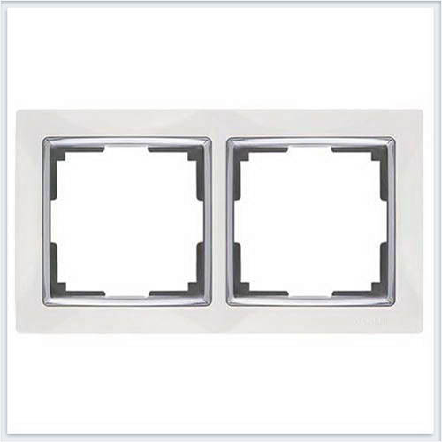 Werkel WL03-Frame-02-white /Рамка на 2 поста белый