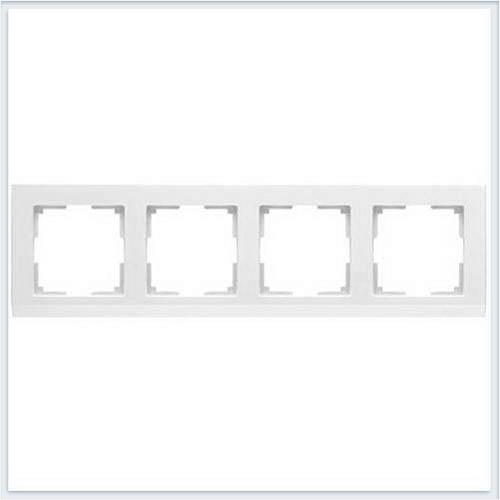 Werkel WL04-Frame-04-white Рамка на 4 поста белый