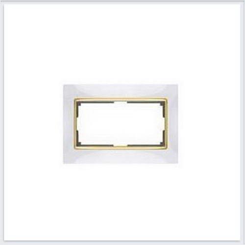 Werkel WL03-Frame-01-DBL-ivory-GD Рамка для двойной розетки слоновая кость/золото