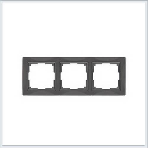 Werkel WL03-Frame-03 Рамка на 3 поста серо-коричневый, basic