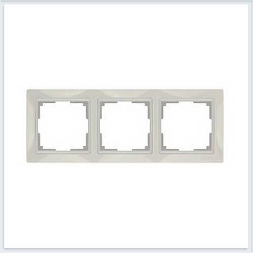 Werkel WL03-Frame-03 Рамка на 3 поста слоновая кость, basic