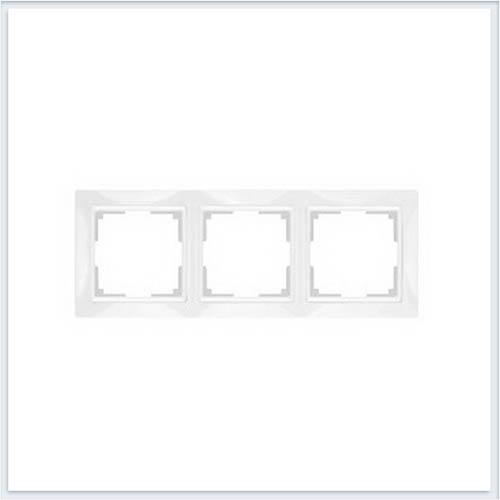Werkel WL03-Frame-03 Рамка на 3 поста белый, basic