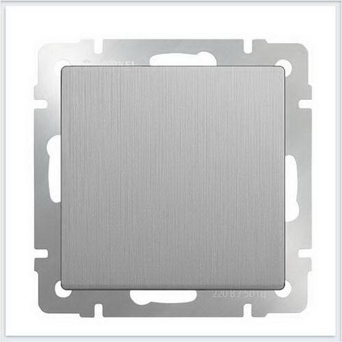 Werkel WL09-SW-1G Выключатель одноклавишный cеребряный рифленый