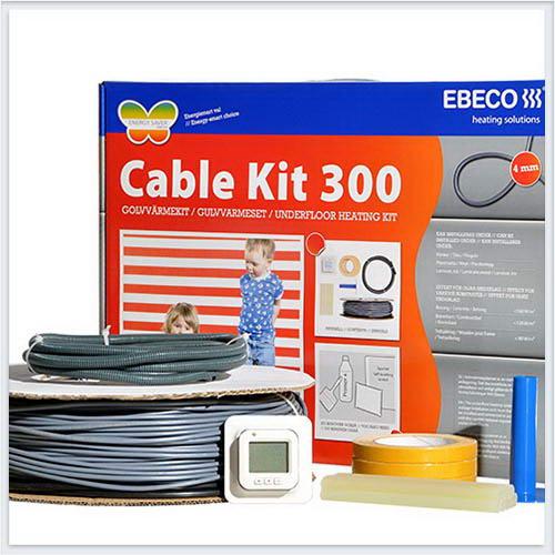 Нагревательный кабель EBECO-CK18 830 на площадь укладки 5,5-7,0m2