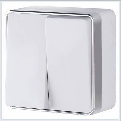 Werkel WL15-03-01 Выключатель двухклавишный Gallant белый