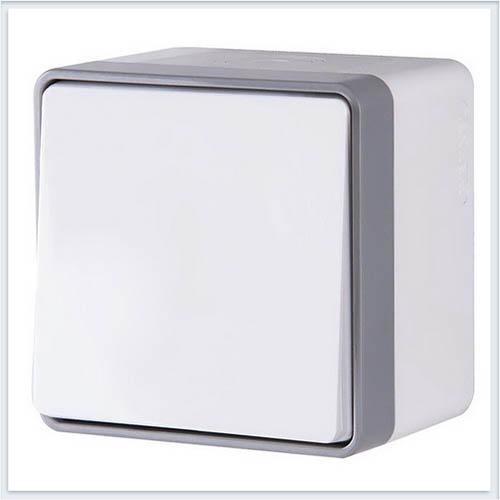 Werkel WL15-01-02 Выключатель одноклавишный влагозащищенный Gallant белый
