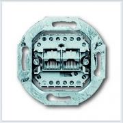 Розетка телефонная 2-я 2х8 полюсов 0215 abb Impuls 0215