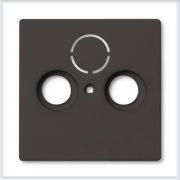 Розетки и выключатели ABB - Розетки и выключатели Basic 55 - ABB Basic 55 Шато черный - 1743-95-507