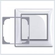 Серебристый металлик Вставка декоративная в рамку ABB Basic 55 2516-902-507