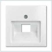 Накладка 1-ой ТЛФ/комп розетки наклонной белая ABB Basic 55 1803-94-507