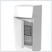 ABB Mistral41 Бокс настенный 4М непрозрачная дверь - 41P04X11