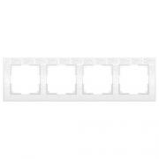 Werkel WL05-Frame-04-white Рамка на 4 поста белый