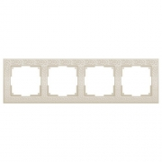 Werkel WL05-Frame-04-ivory /Рамка на 4 поста слоновая кость