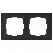 Werkel WL04-Frame-02-black /Рамка на 2 поста черный