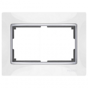 Werkel WL03-Frame-01-DBL-white Рамка для двойной розетки белый