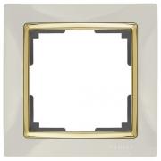 Werkel WL03-Frame-01-ivory-GD Рамка на 1 пост слоновая кость/золото