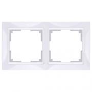 Werkel WL03-Frame-02 Рамка на 2 поста белый, basic