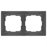 Werkel WL03-Frame-02 Рамка на 2 поста серо-коричневый, basic
