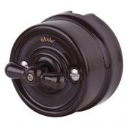 Werkel WL18-01-03 Переключатель одноклавишный коричневый Ретро
