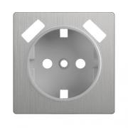 Werkel WL09-USB-CP Накладка для розетки USB cеребряный рифленый