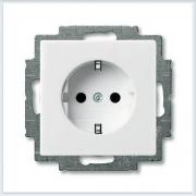 Розетка с/з белая ABB Basic 55 20 EUC-94-507