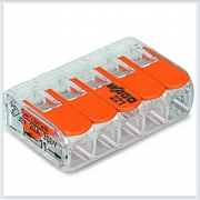 WAGO Клемма с рычагами компактная для 5-х медных одинарных - 221-415