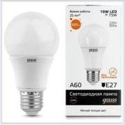 Лампа светодиодная 10W E27 3000K gauss Elementary 23210 - купить лампу