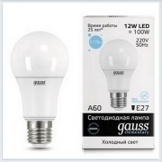 Лампа светодиодная 12W E27 6500K gauss Elementary 23232 - купить лампу
