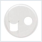 Накладка блока ТЛФ + TV розетки белая Legrand Celiane 68239