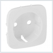 Накладка для силовой розетки 2К+З с зажимами 6кв мм Белая Valena Allure 755255