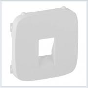 Накладка для аудиорозетки с пружинными зажимами одиночной Белая Valena Allure 755365