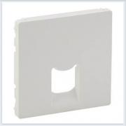 Накладка для одиночных телефонных/информационных розеток Белая Valena Life 755410