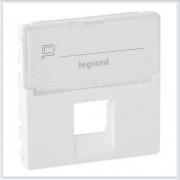 Накладка для одиночных розеток телефонных/информационных Белая Valena Allure 755470