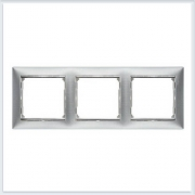 Рамка 3-я матовый алюминий Legrand Valena 770333