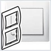 Рамка 2-я вертикальная Legrand Galea Life Белый 771006